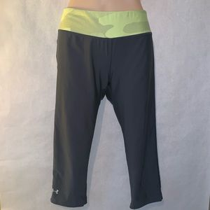 Under armour Capri Leggings gray and green women's